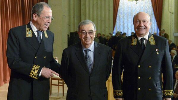 Rusiyanın indiki XİN-i Sergey Lavrov, sabiq nazirlər Yevgeni Primakov və İqor İvanov - Sputnik Azərbaycan