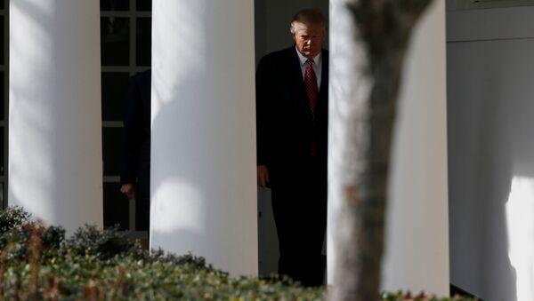 Президент Дональд Трамп в Белом Доме - Sputnik Азербайджан