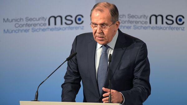 Министр иностранных дел РФ С. Лавров на 53-й Мюнхенской конференции по безопасности - Sputnik Азербайджан