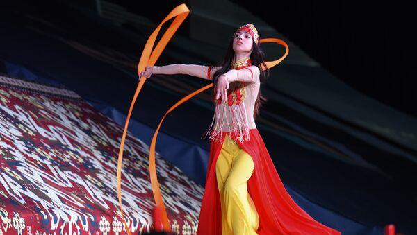 Кубок мира по прыжкам на батуте и тамблингу в Национальной гимнастической арене - Sputnik Азербайджан