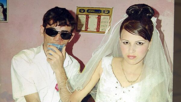 Абдулла и Наргиз в день свадьбы - Sputnik Азербайджан
