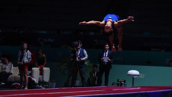 Итоги Кубка мира по прыжкам на батуте и тамблингу в Баку - Sputnik Азербайджан