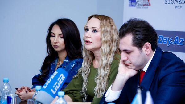 Прошла пресс-конференция по смене руководства модельного агенства FMS Models - Sputnik Азербайджан