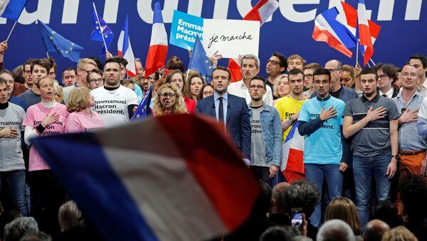 Бывший министр экономики Франции Эмманюэль Макрон, фото из архива - Sputnik Азербайджан