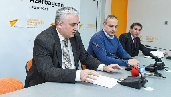 Пресс-конференция на тему Каким будет курс маната в ближайшее время - Sputnik Азербайджан