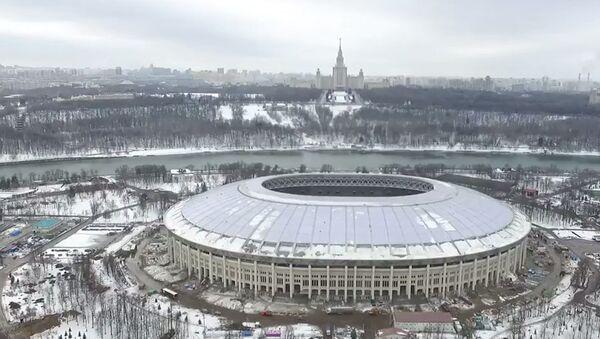 Реконструкция спортивной арены Лужники - Sputnik Азербайджан