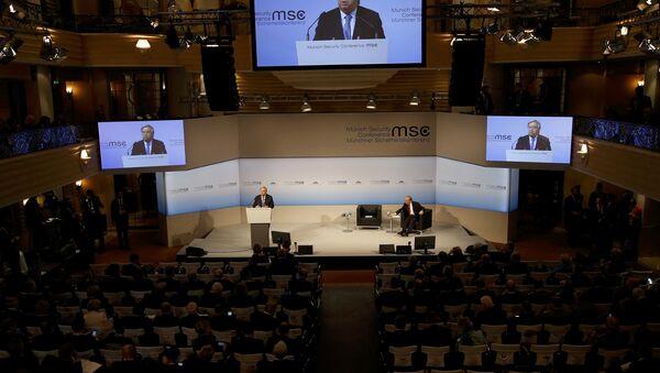 Выступление генерального секретаря ООН Антониу Гутерриша на 53-й Конференции по безопасности в Мюнхене, Германия, 18 февраля 2017 года - Sputnik Азербайджан