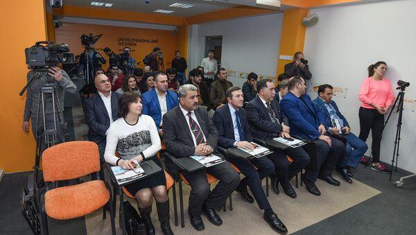 Пресс-конференция в пресс-центре Sputnik Азербайджан, архивное фото - Sputnik Азербайджан