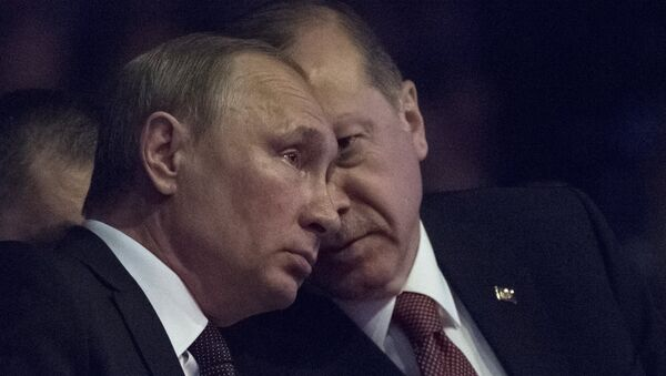 Президент РФ Владимир Путин и президент Турции Реджеп Тайип Эрдоган (справа) , фото из архива - Sputnik Азербайджан