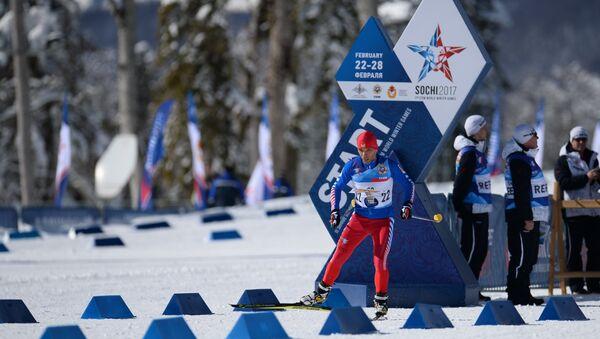 III Всемирные зимние военные Игры, ориентирование на лыжах - Sputnik Азербайджан
