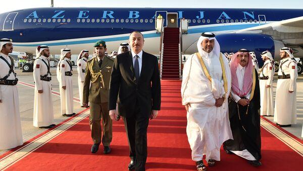 Президент Ильхам Алиев прибыл с официальным визитом в Катар - Sputnik Азербайджан