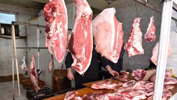 Продажа мяса в Баку, фото из архива - Sputnik Азербайджан