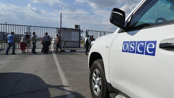 Автомобили миссии ОБСЕ, фото из архива - Sputnik Азербайджан