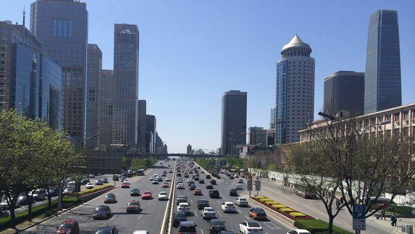 Одна из центральных улиц Пекина, фото из архива - Sputnik Азербайджан