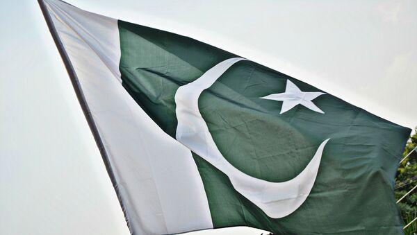 Государственный флаг Пакистана, фото из архива - Sputnik Азербайджан