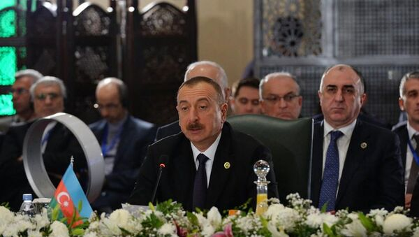 Выступление президента Ильхама Алиева на XIII Саммите Организации экономического сотрудничества - Sputnik Азербайджан