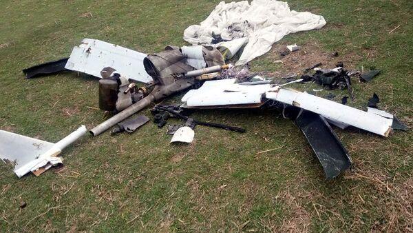 Уничтоженный тактический беспилотник, принадлежащий ВС Армении - Sputnik Azərbaycan