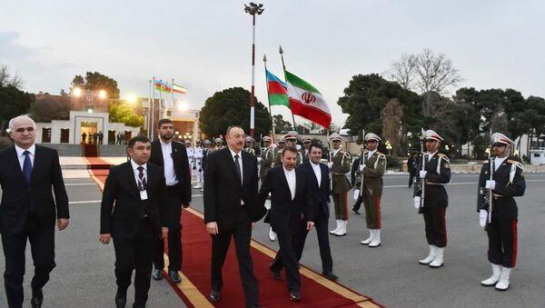 Проводы президента Ильхама Алиева в тегеранском аэропорту Мехрабад - Sputnik Азербайджан