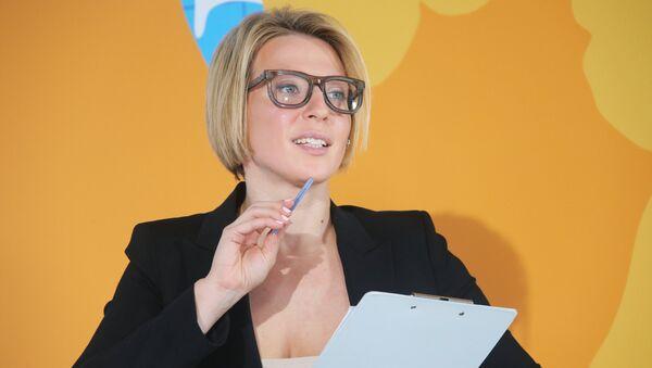 Российская телеведущая Яна Чурикова, фото из архива - Sputnik Азербайджан