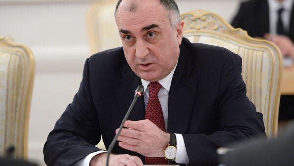 Министр иностранных дел Азербайджана Эльмар Мамедъяров во время встречи в Москве с министром иностранных дел РФ Сергеем Лавровым - Sputnik Азербайджан