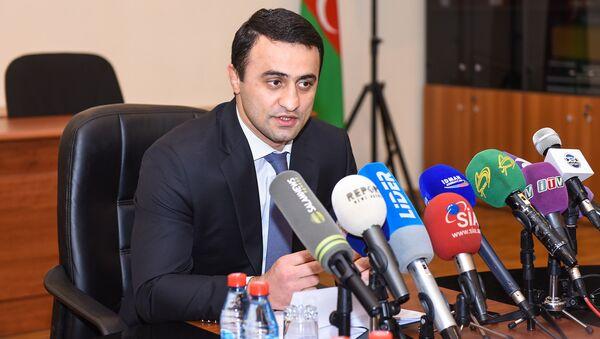 Gənclər və İdman Nazirliyinin idman şöbəsinin müdiri Fərid Mansurov - Sputnik Азербайджан