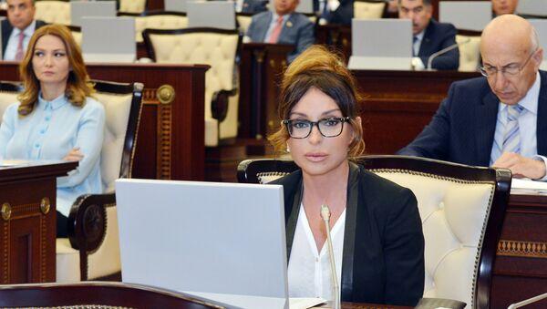 Мехрибан Алиева в парламенте Азербайджана, фото из архива - Sputnik Азербайджан