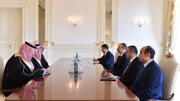 Ильхам Алиев принял государственного министра Саудовской Аравии по вопросам залива - Sputnik Азербайджан