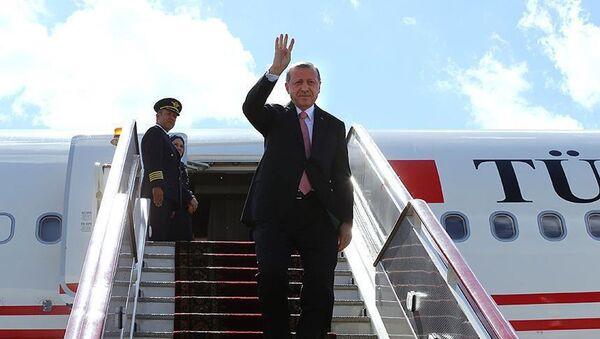 Начался визит президента Турции в Россию - Sputnik Азербайджан