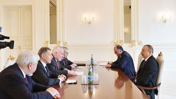 Президент Азербайджана Ильхам Алиев принял сопредседателей Минской группы ОБСЕ - Sputnik Азербайджан