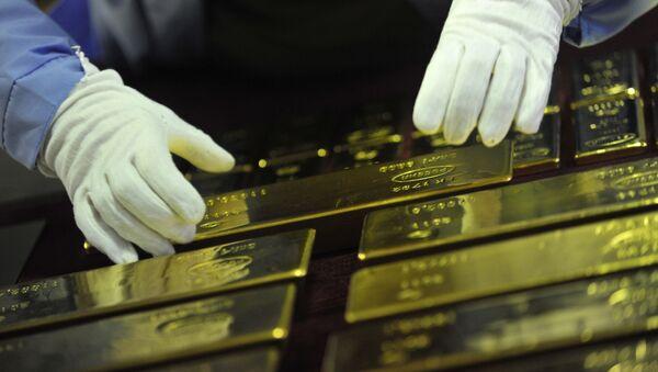 Золотые слитки - готовая продукция, фото из архива - Sputnik Азербайджан