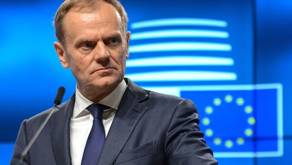 Действующий глава Евросовета Дональд Туск - Sputnik Азербайджан
