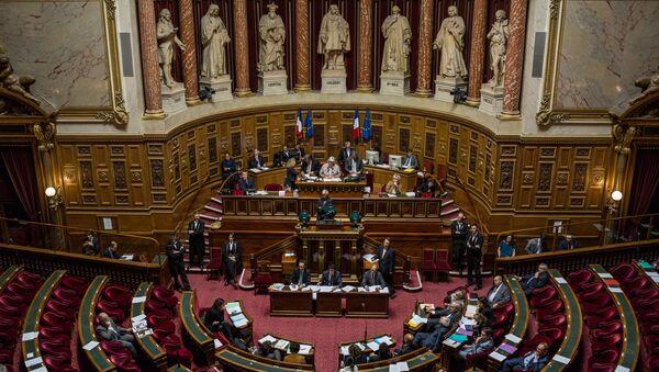 Сенаторы во время заседания французского сената (верхняя палата парламента)  - Sputnik Азербайджан