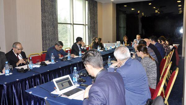 Семинар по повышению роли медиа и гражданского общества в инициативе партнерства Открытого правительства - Sputnik Азербайджан