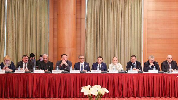 Международная научно-практическая конференция Нагорно-Карабахский конфликт: истоки, миротворчество и роль гражданского общества - Sputnik Азербайджан