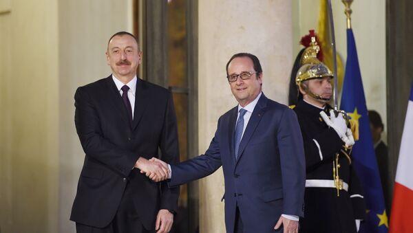 Встреча Президента Азербайджана Ильхама Алиева с Президентом Франции Франсуа Олландом - Sputnik Азербайджан