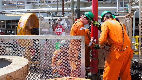 Сотрудники нефтяной компании BP, фото из архива - Sputnik Азербайджан