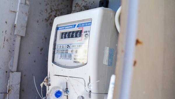 Счетчик электроэнергии, фото из архива - Sputnik Азербайджан