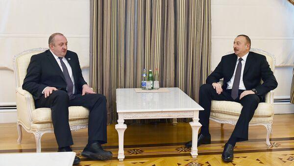 Ильхам Алиев встретился с президентом Грузии Георгием Магвелашвили - Sputnik Азербайджан