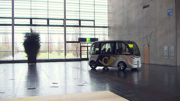 Робоавтобус в Ганновере - Sputnik Азербайджан