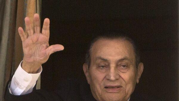 Свергнутый экс-президент Египта Хосни Мубарак, 13 марта 2017 года - Sputnik Азербайджан
