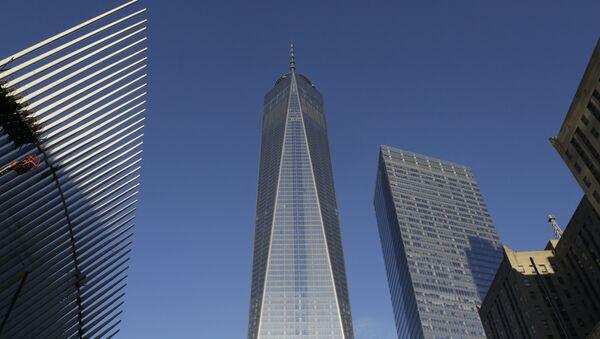 Седьмой корпус Всемирного торгового центра (справа), где расположен офис международного рейтингового агентства Moody's, фото из архива - Sputnik Азербайджан