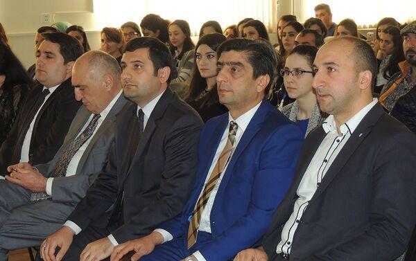 В Азербайджанском университете туризма и менеджмента прошла научно-практическая конференция, организованная при поддержке Министерства культуры и туризма - Sputnik Азербайджан