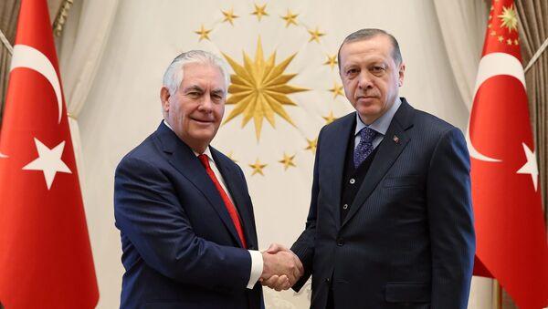 Recep Tayyip Erdoğan - Rex Tillerson - Sputnik Азербайджан