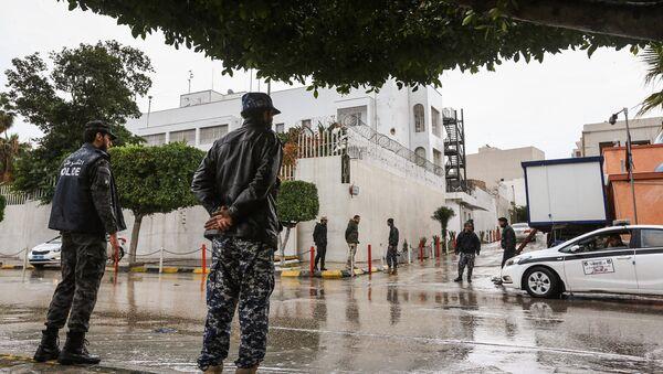 Полиция Ливии, фото из архива - Sputnik Азербайджан