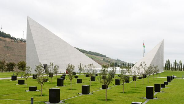Губинский мемориальный комплекс геноцида, фото из архива - Sputnik Азербайджан