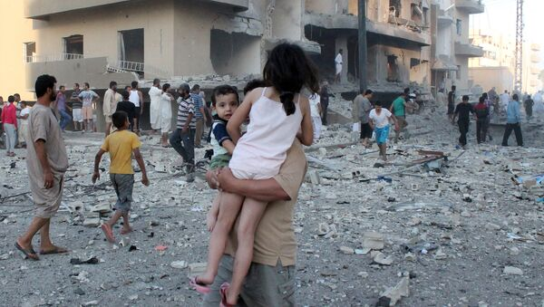 Боевые действия в Ракке, фото из архива - Sputnik Азербайджан