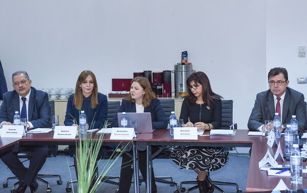 Круглый стол на тему Россия-Азербайджан: 25-летие дипломатических отношений. Стратегия партнерства - Sputnik Азербайджан