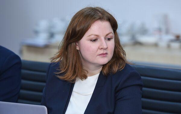 Исполнительный директор Политологического центра Север-Юг Анжелика Трапезникова - Sputnik Азербайджан