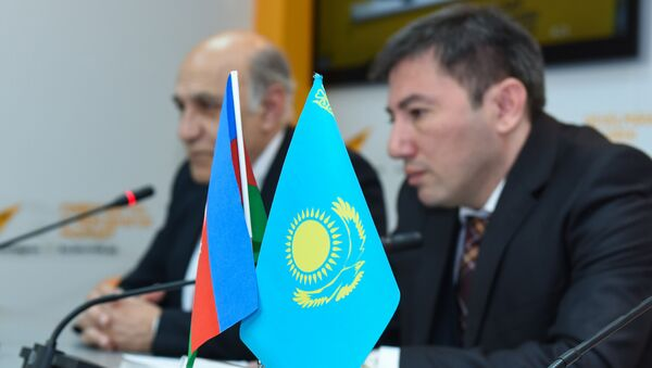 Видеомост Баку-Астана по итогам визита президента Казахстана - Sputnik Азербайджан