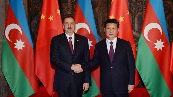 Встреча Ильхама Алиева с Председателем Китайской Народной Республики Си Цзиньпином, фото из архива - Sputnik Азербайджан